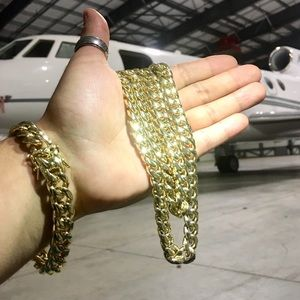 Accessories - CUBAN LINK 18K GOLD NEW BRACELET MADE IN ITALY